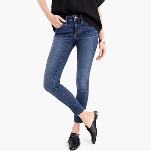 "J. Crew 8"" Toothpick Skinny Ankle Jeans Tall Vista"